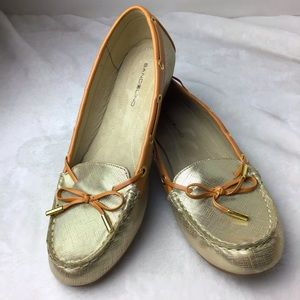 Bandolino Gold Driving Loafers Size 8